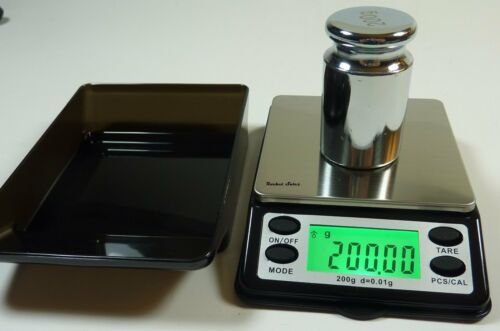 Small Pocket Digital Scale 200g x 0.01g with Calibration Wei