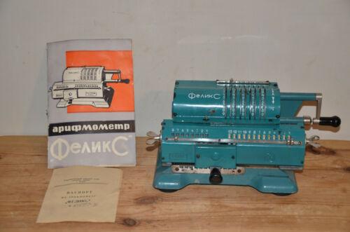 Vintage SOVIET mechanical calculator FELIX, ARITHMOMETER USSR