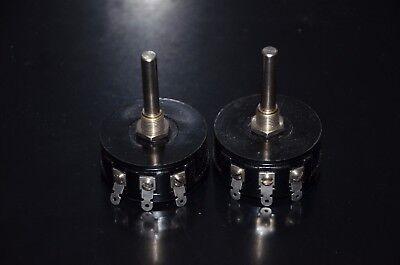 Two 2 Nos Colvern Vintage Wire Wound Potentiometers 100 Ohm 5w Clr.500122
