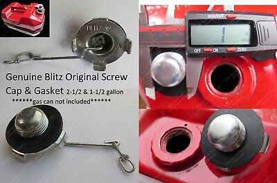 Usmc Blitz Metal Jerry Gas Can Screw Cap Gasket 2-12 1-12 Gal 9.5 5.7l Stihl