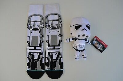 Stance Crew Socks Star Wars Mens Size Large (9-12) & STORMTROOPER PLUSHIE