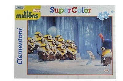 Clementoni Minions Puzzle - 104 Teile (Motiv 2 - Singender Chor)