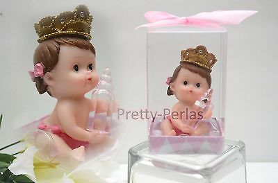 1PC Baby Shower Cake Topper Figurines Girl Pink Recuerdos De Nina Decorations - Pink Baby Shower Cake