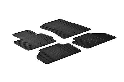 All Weather Rubber Floor Mats fits 2011 2017 BMW X3   4 Piece Set   Black