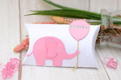 10 x Gastgeschenke Mandel Rosa Mädchen Taufe Geburt Babyparty Elefant