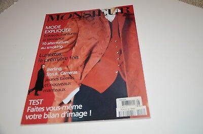 1996 Monsieur Mens Fashion Magazine Paris Edition Watch Clothing Ads Montaigne