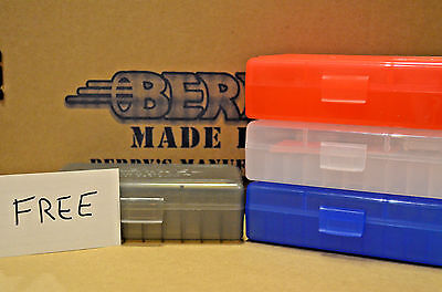 9mm /.380 (3) PLASTIC STORAGE AMMO BOXES (RED-WHITE-BLUE) COMBO PACK SPECIAL