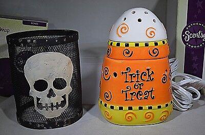 New/Scentsy CANDY CORN & BONES WRAP Halloween Trick or Treat Skull Retired - Halloween Bones Candy