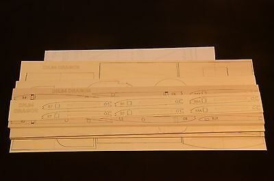 1/7 Scale DH.84 DRAGON Laser Cut Short Kit & Plans 87 in. wing span
