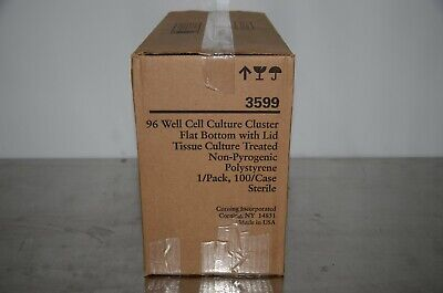 Corning 3599 96 Well Cell Culture Cluster Flat Bottom Wlid 100case