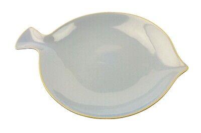 "Beautiful Powder Blue Fish Shaped Dish Dinner Plate 12 x 8.5"" Food Network"