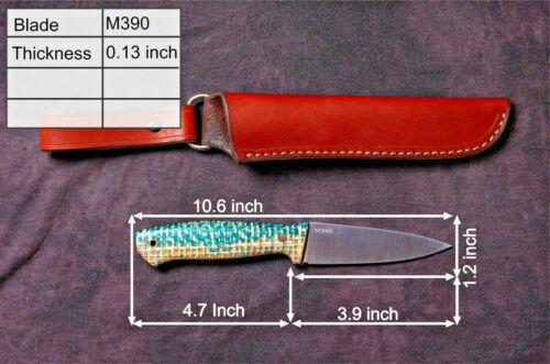 """G.Dedyukhin Fixed Blade Hunting knife """"Severeg"""" M390 Handmade in Bark River Styl"""
