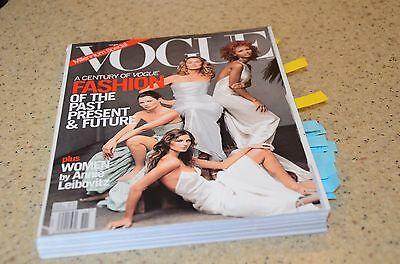 Nov 1999 Vogue Magazine USA Moss Gisele Bundchen Love Monroe Twiggy Garbo Iman