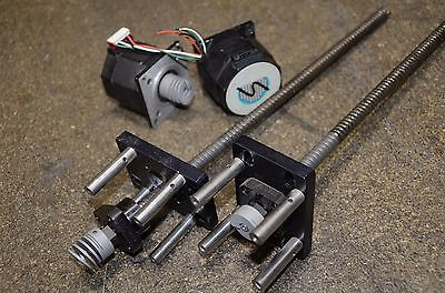 Thk Linear Ball Screw Actuator With Stepper Motor Fk8 12 12 Inches Long Fk