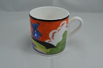LIMITED EDITION WEDGWOOD CLARICE CLIFF CAFE CHIC COFFEE CUP - WINDMILL Wedgwood Cafe