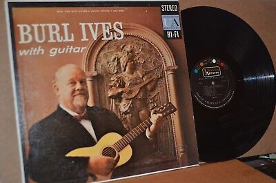 BURL IVES: WITH GUITAR; 1959 UNITED ARTISTS 6060 VG++ LP; NOT ISSUED ON CD