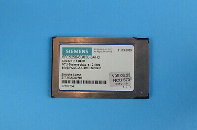 Siemens Ncu-systems Software 12 Axes 6fc5250-6bx30-3ah0 Used