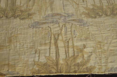 Antique French ART NOUVEAU BROCATELLE Fragment TEXTILE Fabric VV35