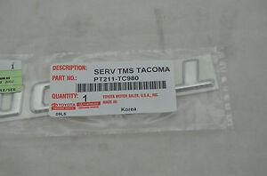 NEW Toyota Tacoma Tailgate TACOMA Chrome Emblem Badge Genuine OEM PT211-TC980