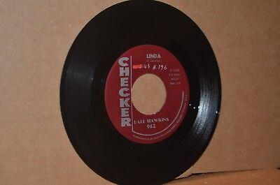 DALE HAWKINS: LINDA & WHO; 1960 CHECKER 962 MINT- ROCKER 45 RPM