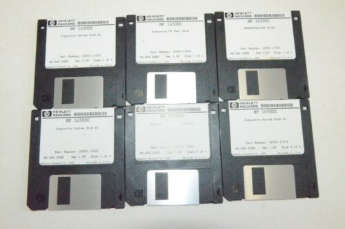 Hp Agilent 16500-17630 17631 17632 17633 17634 17635 Disk Lot 16500C