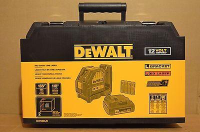 Brand New DeWALT DW088LR 12V MAX* Compatible Red Cross Line Laser