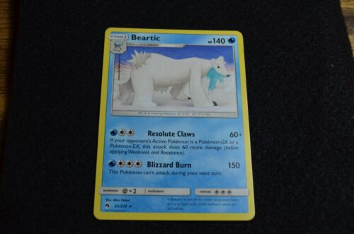 Beartic 62//214 Rare Lost Thunder Mint Pokemon Card