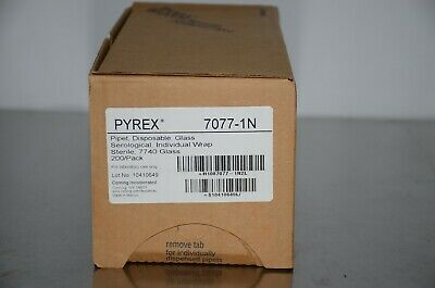 Pyrex 7077-1n 1ml Glass Serological Pipettes Sterile 200pack
