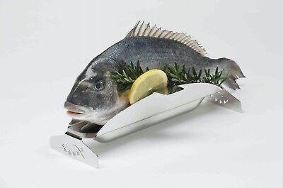 5-Sterne-Fisch Fischgrillhalter Fischzange Edelstahl grillen - made in Germany