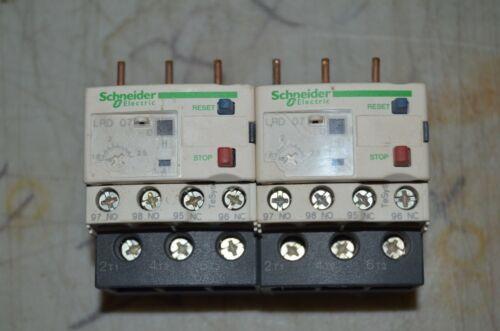 Set of 2 SCHNEIDER ELECTRIC Overload Relays 1.6 to 2.5A,3P,Class 10,690V