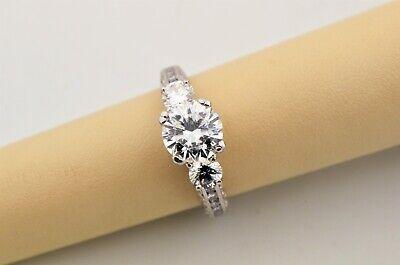 Tacori Crescent Semi Mounting Diamond Platinum Engagement Ring Size 6.5 Diamond Platinum Engagement Ring Mounting