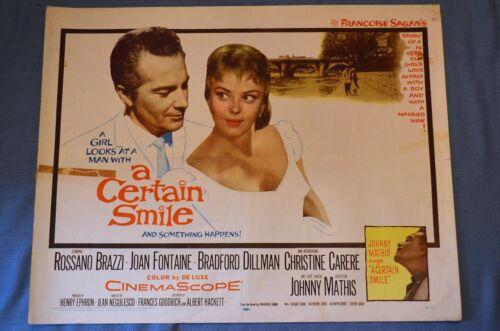 "Vintage Movie Poster, ""A Certain Smile"" (1958)"