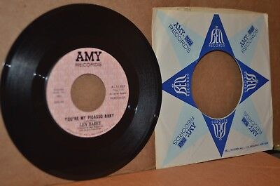LEN BARRY: YOU'RE MY PICASSO BABY & CHRISTOPHER COLUMBUS MINT- NORTHERN SOUL 45