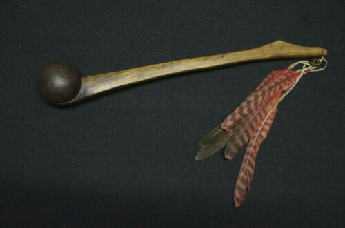 Wooden Ball Club with pendant - Woodlands - early 20th C.
