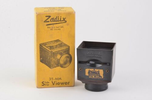 EXC++ BOXED ZADIIX ROYAL DE-LUXE 35mm SLIDE VIEWER, VERY CLEAN
