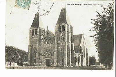CPA - Carte postale - FRANCE -  Écouis   Son Eglise  S2140
