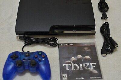 Sony PlayStation 3 PS3 Slim Launch Edition 160GB Black Console CECH-2501A BUNDLE
