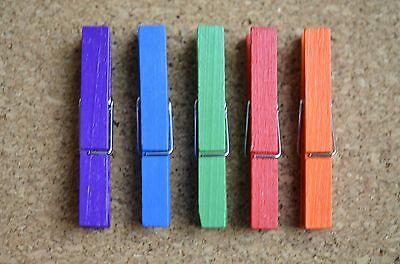 Rainbow Bulletin Board (Set/5 RAINBOW WOODEN clothespin bulletin board pushpins, thumbtacks, or)