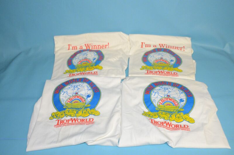 "Vintage Atlantic City Trop World Casino "" Wide World of Slots "" T-Shirt"