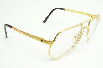 Authentic Cartier Sunglasses Santos Dumont Gold Metal Aviator 56 16 135 Occhiali