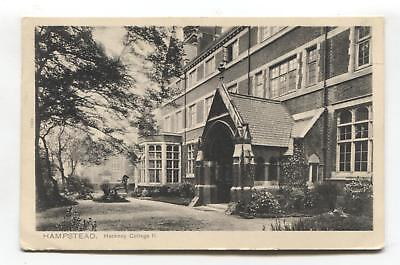 Hampstead - Hackney College, Finchley Road - 1907 used London postcard for sale  Shipping to Ireland