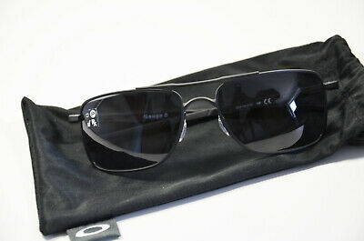 Oakley Gauge 8M 4124 01 57 matte black Herren Metall Sonnenbrille Neu