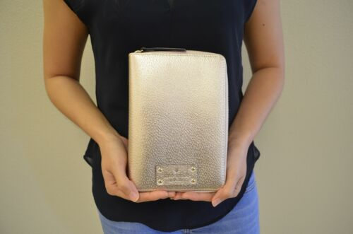 NWT Kate Spade Metallic ROSE GOLD Personal Planner Organizer Agenda w Insert