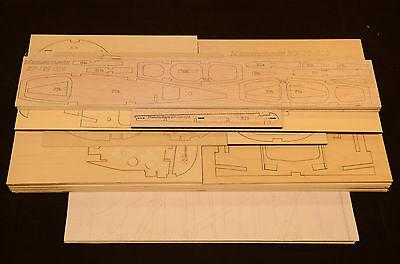Large 1/5 Scale MESSERSCHMITT BF-109 G10 Laser Cut Short Kit & Plans, 78.5 in WS