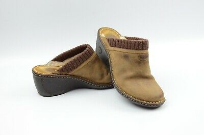 UGG Women's Gael Clogs/Mule Sheepskin Shearling Lined Brown Leather #3085 Size 9 for sale  Lanham