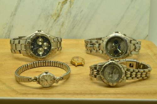 LOT OF 5 VARIOUS WRISTWATCHES