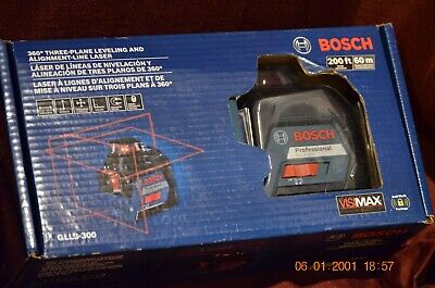 Bosch Gll3-300 360 Degree 200ft Three Plane Leveling Line Laser FACTORY SEALED