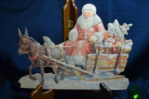 Vintage Large CHRISTMAS Card , santa