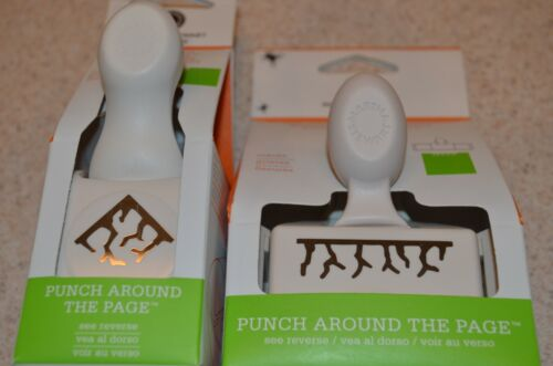 Martha Stewart Halloween Punch Around The Page (edge + corner) Cracks Brand New
