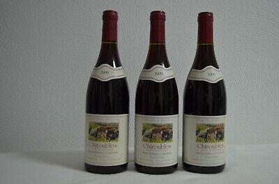 3 Flaschen Chiroubles /Beaujolais Bernard Pichet 2000 Rotwein Frankreich